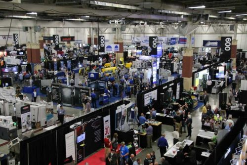 Wisconsin Manufacturing & Technology Show Image from above the booths